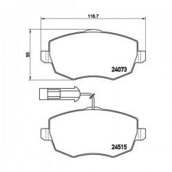 Fiat 77365218 - Pasticche Anteriori ORIGINALI FIAT per Ypsilon 1.2 1.4 1.3Jtd/Mjt con spia (corrispondente a:  FIAT 71773150 - 77364331  -  TEXTAR 2407304)