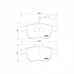 Punto Evo MTJ 77366134 Pastiglie freno anteriori originali FIAT Grande Punto
