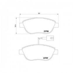 Fiat 77365468 - Pasticche Anteriori ORIGINALI FIAT per P. Evo 1.3 1.6Mjt 1.4 metano DOPPIO SEGNALATORE (corrispondente a: FIAT 71773152 - 77365716 - 77365865  -  TEXTAR 2370901)