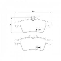 Ford 1360254 - Pasticche Posteriori ORIGINALI FORD per C-max - Focus C-max - Focus II (corrispondente a: FORD 1233679 - 1324300 - 1360304 - 1459016 - 1566096 - 1763677 - 1809259 -  TEXTAR 2413701)