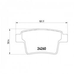 Ford 1521329 - Pasticche Posteriori ORIGINALI FORD per Mondeo III 00> 04> - JAGUAR X-Type 2.0 - 2.0D- 2.2D (corrispondente a: FORD 1356392 - 1522073 -  JAGUAR C2S38068 - C2S48024 - C2S52081  -  TEXTAR 2426001)
