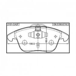 Ford 1566232 - Pasticche Anteriori ORIGINALI FORD per S-Max Mondeo IV V Galaxy 06>  -  VOLVO  S60 - S60 D5 - S80 - V60 - V70   -  LAND ROVER FreelanderII 2.2TD4 ecc ecc.