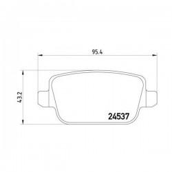 Ford 1566234 - Pasticche Posteriori ORIGINALI FORD per Focus S-Max 05- 10- Kuga Mondeo 07- Galaxy 06 - LAND ROVER Freelander (corrispondente a:  FORD 1438867 - 1459408 - 1477803 - 1756395 - 1682005  -  TEXTAR 2453703)
