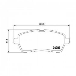 Ford 1848518 - Pasticche Anteriori ORIGINALI FORD per FIESTA - MAZDA 2 07 -> (corrispondente a: 1676630 - 1550219 - 1719275 - 1788734 - 1855307  -  TEXTAR 2428302)