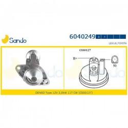 Sando 6040249 Motorino d'avviamento TOYOTA AVENSIS Tre volumi (T25) 2.2 D-CAT 177hp 130kw 2231cc 07/2005 > 11/2008 (corrispondente a: TOYOTA 281000g040 - 28100R010)