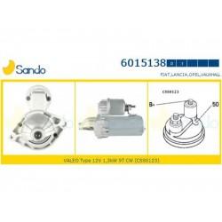 Sando 6015138.1 Motorino d'avviamento FIAT PANDA (169) - DOBLO - PUNTO - GRANDE PUNTO - 500 - QUBO 1.3 D Multijet 4x4 70hp 51kw 1248cc 10/2004 >