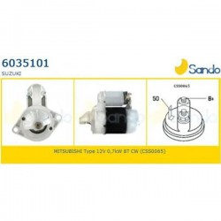 Sando 6035101.0 Motorino d'avviamento SUZUKI JIMNY 1.3 - GRAND VITARA 1.6, 2.0 - SAMURAI - VITARA (corrispondente a: MITSUBISHI M003T24782-M003T34781-M3T24782- M3t31471-M3T24782-M3T38981-SUBARU 429917400-SUZUKI 3100083021- 3110082021-3110083021)