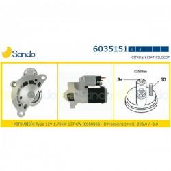 Sando 6035151.1 Motorino d'avviamento PEUGEOT 206-306-405-406-605-806-807-307-EXPERT-RANCH Diesel/ CITROEN BERLINGO-C5-C8-JUMPY