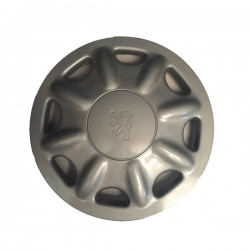 """Serie di 4 coppe ruota (borchie) commerciali con logo PEUGEOT  diametro 14"""""""