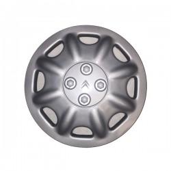 """Serie di 4 coppe ruota (borchie) commerciali con logo CITROEN  diametro 14"""""""