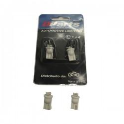 Qparts qle601 Coppia lampadine a 4 led per posizione auto. Sostitutive delle lampadine tuttovetro classiche