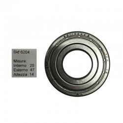 SKF Cuscinetto popolare skf 6204 doppia schermatura in ferro misure: 20-47-14