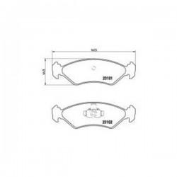 Kit pastiglie freno, Freno a disco Assale anteriore FORD-MAZDA - wva23101