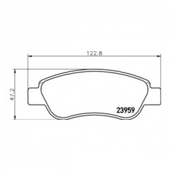 Kit pastiglie freno, Freno a disco Assale anteriore per CITROËN-PEUGEOT-TOYOTA - wva23959