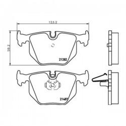 Kit pastiglie freno, Freno a disco Assale posteriore per ALPINA-BMW-LAND ROVER- wva21487