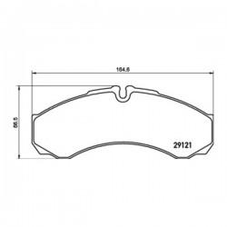 Kit pastiglie freno, Freno a disco Assale anteriore/posteriore per Iveco - wva29121