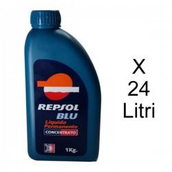 Repsol Cartone da 24 Litri Antigelo Blu