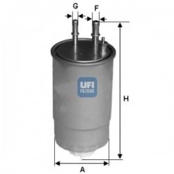 Ufi Filter - Filtro carburante montato su ALFA ROMEO-CITROEN-FIAT-LANCIA-OPEL-PEUGEOT