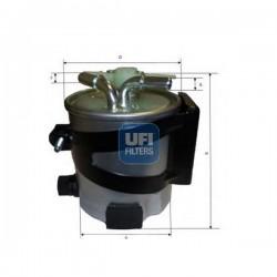 Ufi Filter - Filtro carburante montato su RENAULT